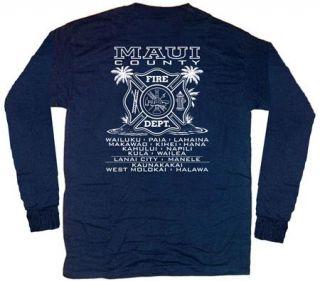 Maui Fire Department Hawaii T Shirt XL Long Sleeves