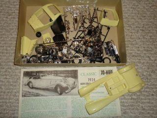 VINTAGE CLASSIC CAR MODEL KITS JOHAN 1934 MERCEDES BENZ, 1932 CHRYSLER