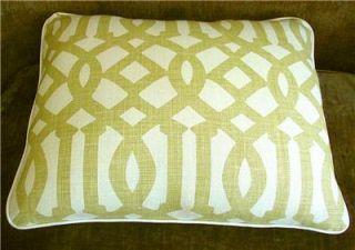 Kelly Wearstler Linen Fabric Imperial Trellis Custom Designer Pillow 1