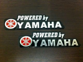 A003 Powered by Yamaha Sticker Decal Emblem R6 R1 YZF New Waterproof