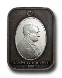 AC Turkey Mustafa Kemal Ataturk 2001 UNC Gold