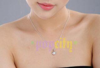 18K Gold GP Swarovski Crystal Engagement Diamond Heart Pendant
