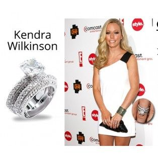 Kendra Wilkinson Playboy Vintage Engagement Wedding Ring Set 4 7 Ct CZ