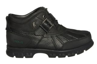 Ralph Lauren Mens Ankle Boots Dover III Black Leather Sz 9 M