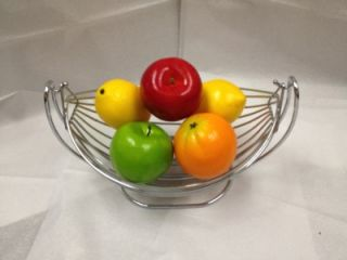 Modern Stainless Steel Cradling Kitchen Fruit Basket
