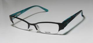 New Kensie Daydream 50 17 135 Black Green Half Rim Eyeglasses Glasses