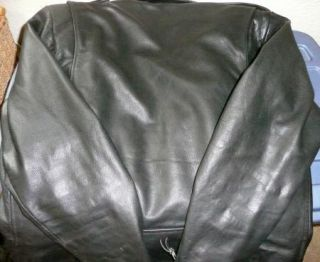 Vintage Mens Open Road Genuine Leather Classic Motorcycle Biker Jacket