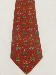 Salvatore Ferragamo Mens Luxury Neck Tie Silk Novelty Grandstands