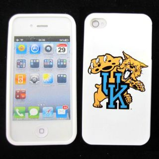 Apple iPhone 4 4S 4G Kentucky Wildcats Silicone Rubber Skin Case Phone