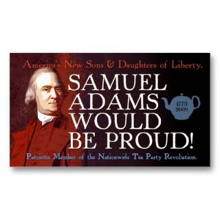 Samuel Adams business card