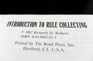RARE Signed Copy Ken Roberts Introduction to Rule Collecting Slide