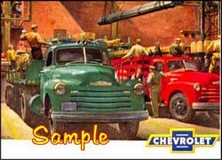 1950 Chevrolet Truck C 3x4 Magnets Stickers Refrigerator Magnets