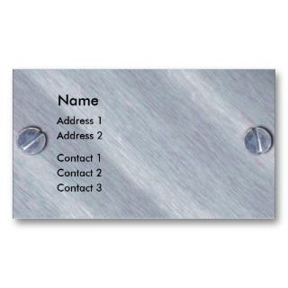 Metal Screws Profile Card Business Card
