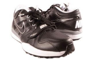 Nike Black White Metallic Silver Trainer 7V7 Sneakers Mens Shoes Med