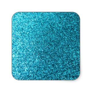 Faux Blue Glitter Sticker