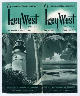 Key West Florida Brochure Map 1950s Nations Southernmost Point