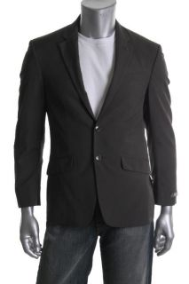Kenneth Cole Brown Long Sleeve Pinstripe Lined Two Button Suit Jacket
