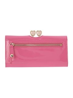 Ted Baker Large pink hearts flapover purse
