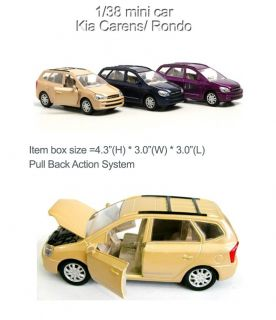 Kia Carens Rondo 1 38 Diecast Model Mini Car New Blue