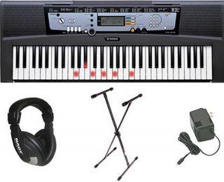 New Electric Piano Keyboard Stand Headphones 61 Lighted Keys Yamaha