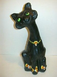 HALLOWEEN CANDY CORN Artist Sample OOAK ALLEY CAT Marked M. Kibbe