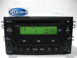 Kia Spectra 2005 2006 CD Player Radio Black P N 96150 2F100 Tested
