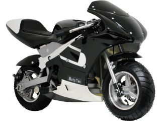 Cool Moto Tec Black Gas Pocket Motorcycle Kids Scooter Bike