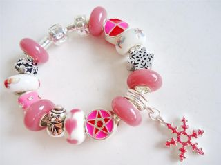 Kids Children European Charm Bracelet Hello Kitty Christmas Charm