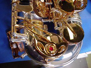 New Selmer Silver & Gold alto sax w/Selmer care kit + Selmer USA