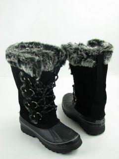 Khombu Arctic Snow Boots Black Womens Size 7 M New $135