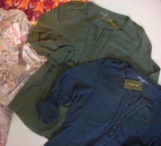 New Shirt Top Lot Rhinestone Kiara RXB Ruched Lizwear Eddie Bauer 3 4