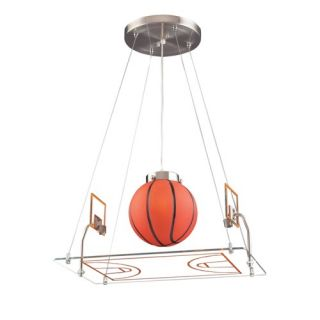 New Elk Childrens Boys 1 Light Basketball Pendant Lighting Fixture