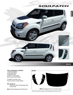 For Kia Soul Graphics Kit Decals EE 1711 Trim Emblems 2012 2013