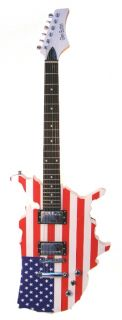 American Flag Electric Guitar for Rock N Roll Patriots