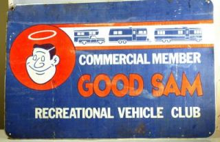 Vintage Metal Sign GOOD SAM RV CLUB Rare 20x30 Product Image