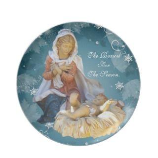 Nativity Christmas plate