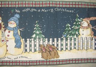 Jacquard Woven Tapestry Table Runner 74 We wish a Merry Christmas