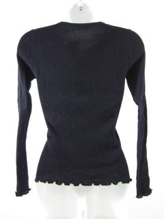 Kieran Black Long Sleeve Henley Sweater Shirt Sz Small