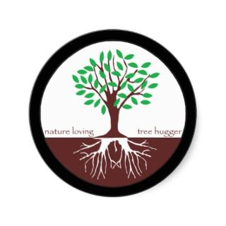 Nature Loving Tree Hugger Round Stickers