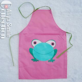 Cute Frog Kids Kitchen Garden Apron Lovely Child Pinafore Gift 5 Color