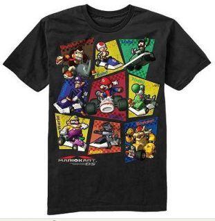 Mario Kart DS s s Shirt Tee Black 8 10 12 14 16 18 20
