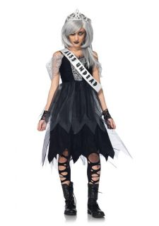 Prom Queen Dress and Crown Scary Kids Teen Halloween Costume