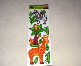 New Baby Kids Room Removable DIY Jumbo Wall Stickers Jungle Safari Zoo