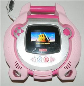 Fisher Price Kid Tough Portable DVD Player Pink Girls Carrying Case