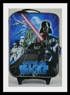 Star Wars Rolling Luggage Suitcase Kids RARE Darth Vader Storm