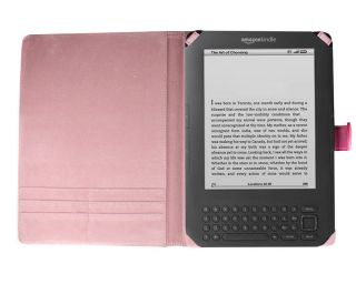 Bundle Monster New  Kindle 3 Synthetic Leather Cover Case Jacket