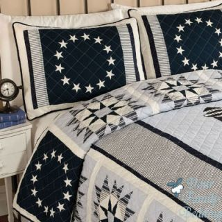 Nautical Light House Star Twin Full Queen King Size Quilt Cotton Bed