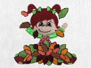 Applique Autumn Kids Machine Embroidery Designs