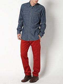 Dockers Alpha khaki tapered straight fitted chino`s Red