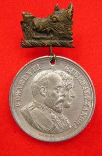 Original Vintage 1902 King Edward VII Coronation Medal